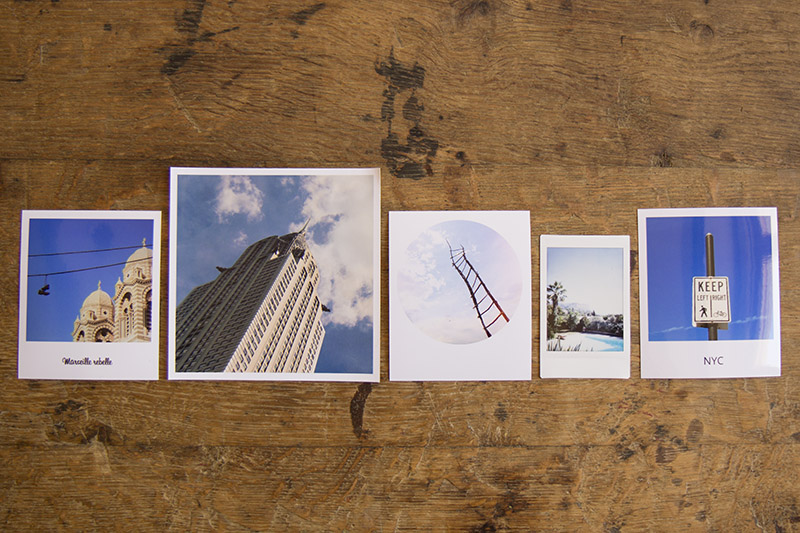 Test comparatif impression de photos polaroids