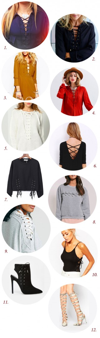 Wishlist lacets SheIn Asos